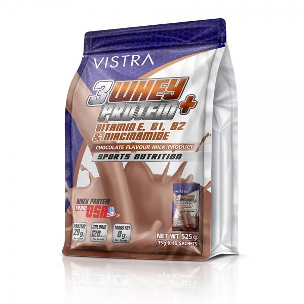 VISTRA 3 WHEY PROTEIN PLUS (Chocolate) 35G 15PC วิสทร้า 3 เวย์ โปรตีน พลัส ช็อกโกแลต