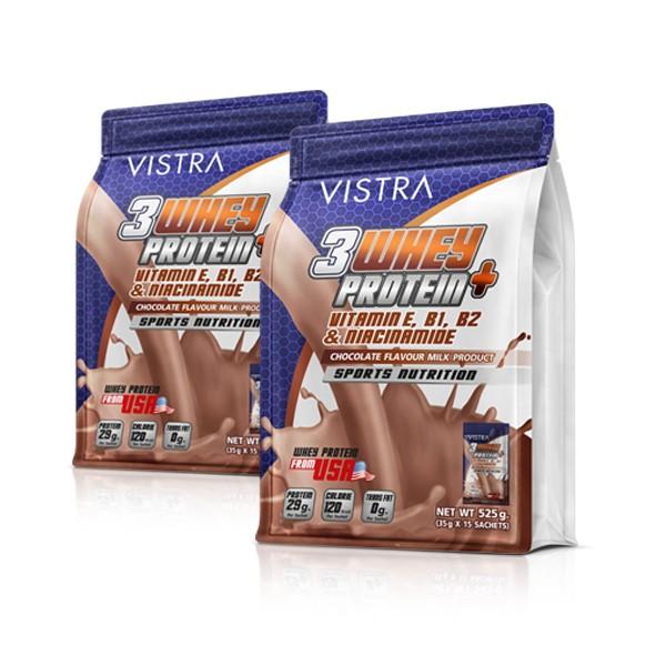 เซ็ท เวย์โปรตีน รสช็อคโกแลต แพ็คคู่