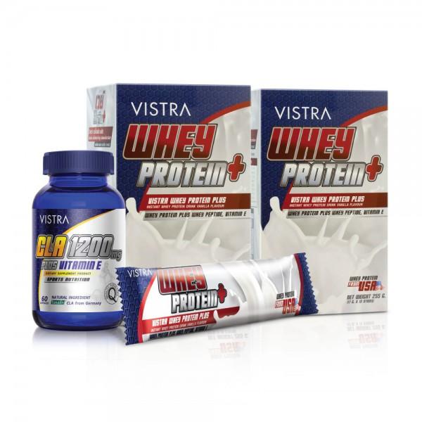 เซ็ท เอ เวย์โปรตีน พลัส (VANILLA) 2 กล่อง และ Cla 1200mg. ขนาด 60 เม็ด