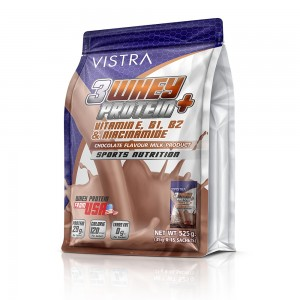 VISTRA 3 WHEY PROTEIN PLUS (Chocolate) 35G 15PC